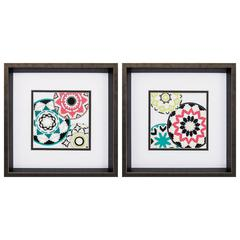 Modern Baskets Wall Art, Pack Of 2