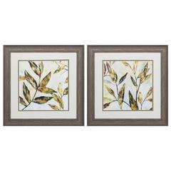 Gilded Leaves  Wall Art, Pack Of 2