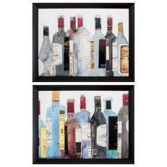 Wine & Spirit Wall Art, Pack Of 2