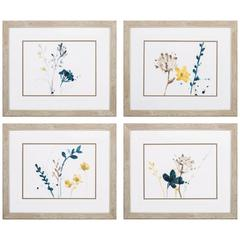 Navy Garden Inspire Wall Art, Pack Of 4