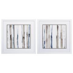 Duo Tone Trees Wall Art, Pack Of 2