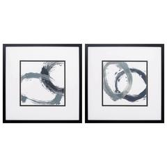 Circular Reaction Wall Art, Pack Of 2