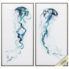 Electric Tangle Wall Art, Pack of 2