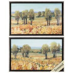 Golden Fields Wall Art, Pack of 2