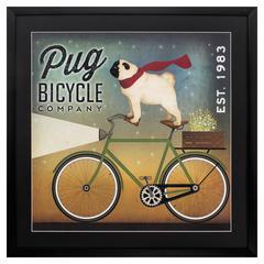 Pug On A Bike Wall Art