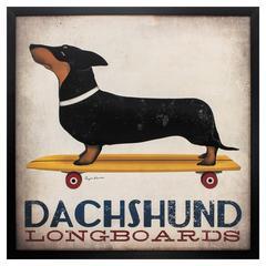 Dachshund Longboards Wall Art