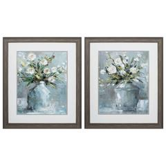 Country Bouquet Wall Art, Pack Of 2