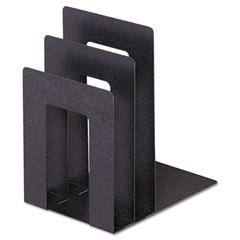 """Steelmaster Soho Bookend with Squared Corners, 5""""w x 7""""d x 8""""h, Granite"""