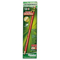 Ticonderoga Ticonderoga Erasable Colored Pencils, 2.6 mm, CME Lead/Barrel, Dozen