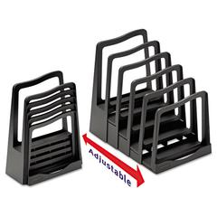 Avery Adjustable File Rack, Five Sections, 8 x 10 1/2 x 11 1/2, Black