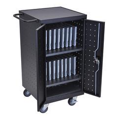 Black 18 Laptop Computer Charging Cart