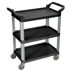3 Shelf Black Serving Cart
