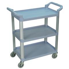 3 Shelf Gray Serving Cart