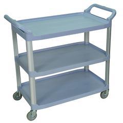Large 3 Shelf Gray Serving Cart