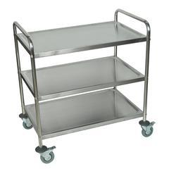 Stainless Steel 3 Shelf Cart
