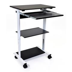 STAND-WS30 Mobile 3 Shelf Adjustable Stand Up Workstation
