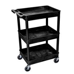3 Shelf Black Tub Cart