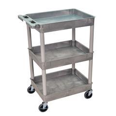 3 Shelf Gray Tub Cart