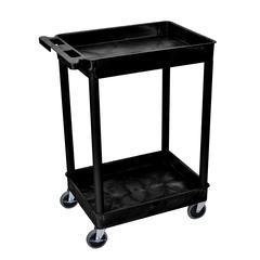 2 Shelf Black Tub Cart