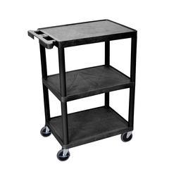 3 Shelf Black Cart