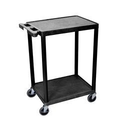 2 Shelf Black Cart
