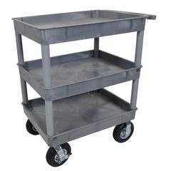 Gray 24x32 3 Tub Cart W/ P8 Casters