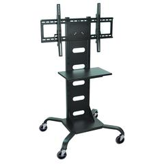 H. Wilson Mobile Black Flat Panel TV Stand & Mount