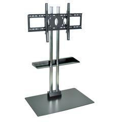 H Wilson Stationary Flat Panel TV Stand W/ Shelf and Mount