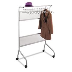 Impromptu Garment Rack, Steel, 40-1/4w x 29-3/4d x 58-3/4h, Gray