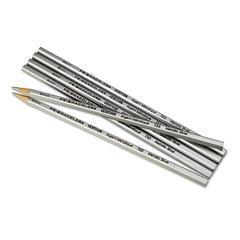Prismacolor Verithin Colored Pencils, Metallic Silver, Dozen