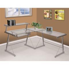 Bueller Desk in Silver, Silver