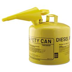 Eagle Type I Safety Can, F-15 Funnel, 5gal, Metal, Yellow