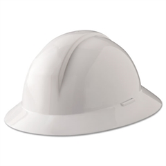 A-Safe Everest Hard Hat, White, Full Brim, Slotted