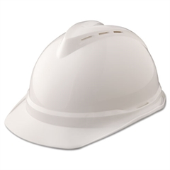 MSA V-Gard 500 Protective Cap Vented, 4-Point Suspension, White