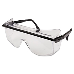 Uvex Astro OTG 3001 Safety Spectacles, Black Frame