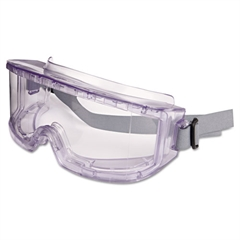 Futura Goggles, Clear Frame, Clear Lens, Impact/Dust-Resistant
