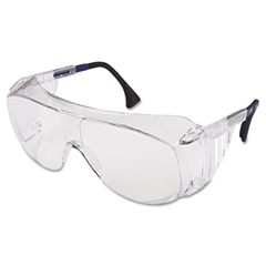 Uvex Ultraspec 2001 OTG Safety Eyewear, Clear/Black Frame, Clear Lens