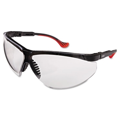 Genesis XC Two-Shot Safety Glasses, Black Frame, Clear Lens