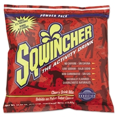 Sqwincher Powder Concentrate Electrolyte Drink Package, Cherry,23.83oz Packet,2.5gal Yield