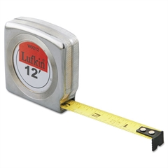 Mezurall Measuring Tape, 1/2in x 12ft, Yellow