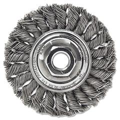 """Dualife STA-4 Twist Knot Wire Wheel, 4"""" dia, .02 Wire"""