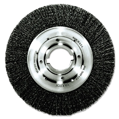 "Weiler Trulock TLM-10 Narrow-Face Crimped Wire Wheel, 10"" dia, .014 Wire, Arbor Dia: 2"""