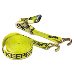 Keeper Ratchet Tie-Down Strap, 2in x 27ft, 10000lb Cap, Double-J Hook Ends