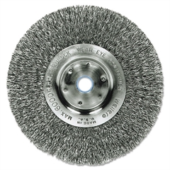"Trulock TLN4 Narrow-Face Crimped Wire Wheel, Stainless Steel, 4"" dia, .0118 Wire"
