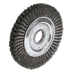 """Weiler Dualife Twist-Knot Wire Wheel, 10"""" dia, 1 3/4"""" Trim, .016 Wire, 2"""" Arbor"""