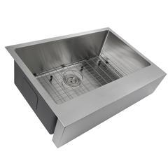 Nantucket Sinks  EZApron30 Patented Design Stainless Steel Apron Sink