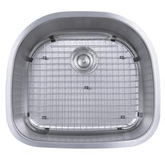 23-Inch D-Bowl Undermount Stainless Steel Kitchen Sink, 16 Gauge