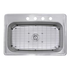 33 Inch Large Rectangle Single Bowl 18 Gauge Stainless Steel Drop In Kitchen Sink