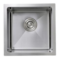SR1515 - 15 Inch Pro Series Square Undermount Small Radius Stainless Steel Bar/Prep Sink
