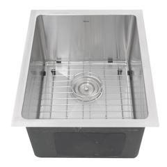 SR1815 - 15 Inch Pro Series Rectangle Undermount Small Radius Stainless Steel Bar/Prep Sink